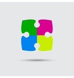 Puzzle four color piece sign icon symbol vector