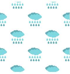 Rain pattern flat vector