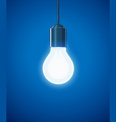 saving power shining electric vector image