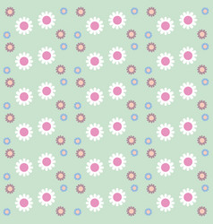 seamless flowers pattern floral background vector image