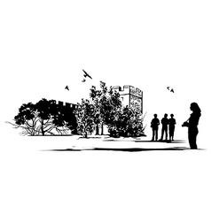Tourist Castle vector image vector image