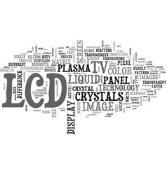 What is an lcd tv text word cloud concept vector