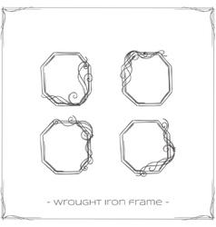 Wrought iron frame three vector
