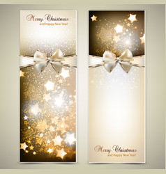 Greeting cards with white bows and copy space vector