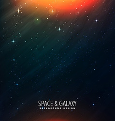 Space universe template vector