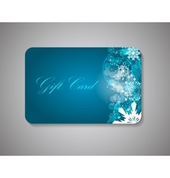 Beautiful gift card vector