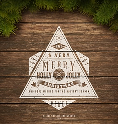 Holidays sign vector image