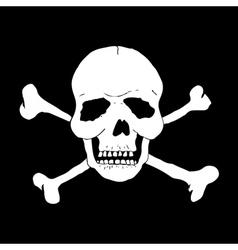 Skull and bones vector image