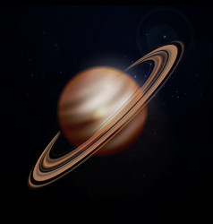 Planet saturn background vector
