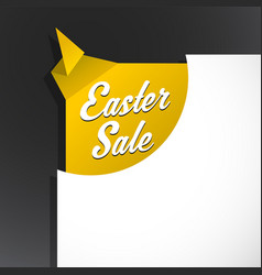 Easter sale text uncovered from torn paper corner vector