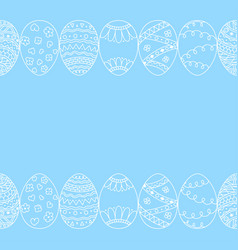 seamless decorative border of hand drawn easter vector image