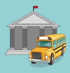 building bus school design vector image