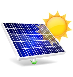 Solar Panel And Sun vector image