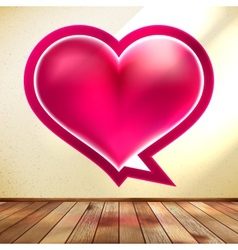 Valentines day card Speech bubble EPS 10 vector image