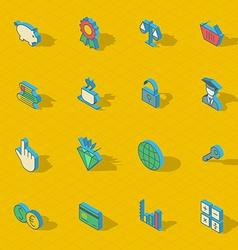 Colorful isometric flat design icon set vector image