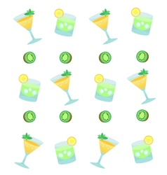 Cocktails with fruits vector