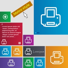 Printing icon sign buttons modern interface vector