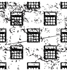 Calculator pattern grunge monochrome vector