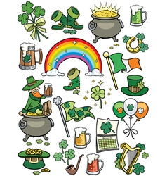Saint patricks day elements vector