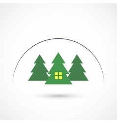 Pine home vector image