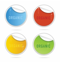 Creative organic curl labels sign set vector