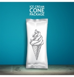 Empty packaging design for ice cream or other vector