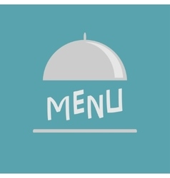 Silver platter cloche metal restaurant food vector