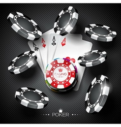 on a casino theme with playing chips vector image
