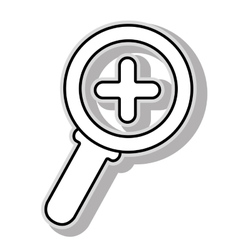 Magnifying glass icon graphic vector