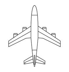 Airplane icon outline style vector image