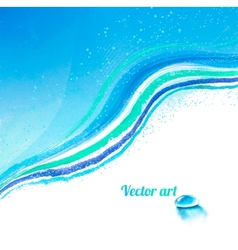 Background with water drop vector image vector image