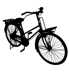 bicycle bike siluate vector image vector image