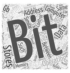 Bit operating system word cloud concept vector