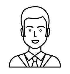 businessman worker isolated icon vector image