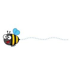 Cartoon bee buzzing vector