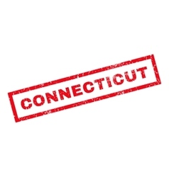 Connecticut rubber stamp vector