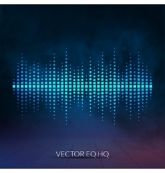 Digital equalizer with colored lights and vector