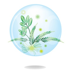 Eco Green Friendly Environmental Button vector image