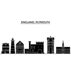 England plymouth architecture city skyline vector