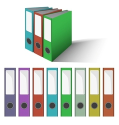 Files and Folders vector image vector image