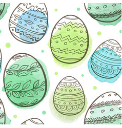 Green easter seamless pattern vector