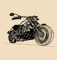 hand drawn motorcycle vector image