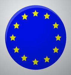 Icon European Union Flag vector image vector image