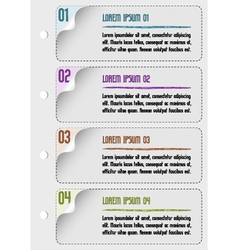 infographic design number template vector image vector image