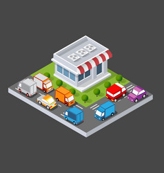 Isometric 3d shop vector
