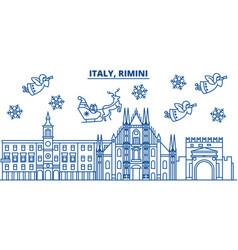 Italy rimini winter city skyline merry christmas vector