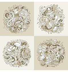 Latin america hand drawn doodle vector