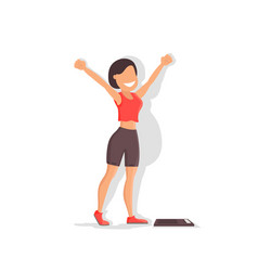 losing weight girl with a beautiful figure vector image