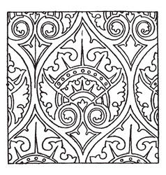 Modern french pattern is a church painting vector