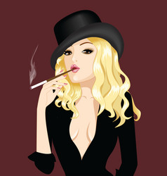retro style girl vector image